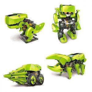 CUTE SUNLIGHT 2125 T4 Zestaw Robot 4 dinozaurów Solar 4 w 1 Solar