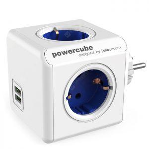 GOCOMMA 1202 Cube Socket 4 EU Plug + 2 USB