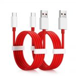 2 SZTUK 4A Szybkie ładowanie danych Kabel USB typu C do Oneplus 6T / 6 / 5T / 5 / 3T