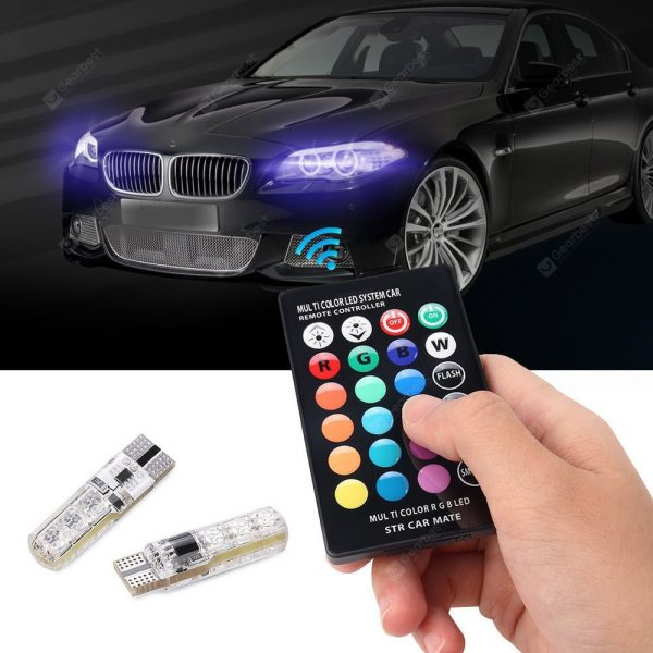 Gocomma T10 Pilot dekoracyjna dekoracyjna lampa LED RGB do samochodów 2szt