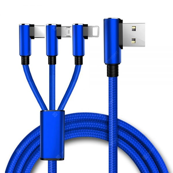 Gocomma 1.5m Universal 3 in 1 USB Charging Cable Double-Sided Reversible Design