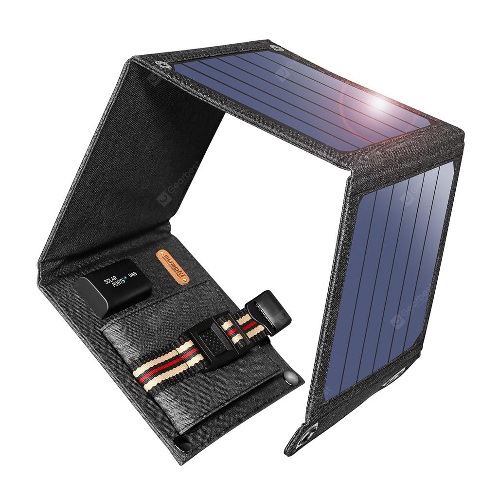 Suaoki Solar Panel Charger 14W USB 5V 2.1A