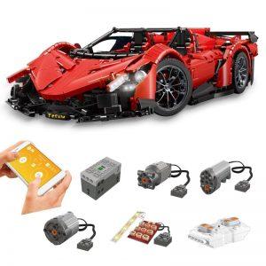 Mould King 1:8 MOC - 10559 Red Poison Building Block Car 2538PCS