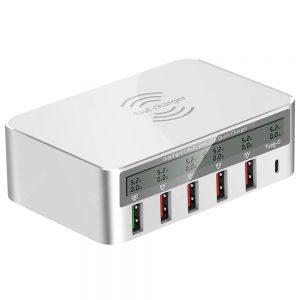WLX - 818F Multi-port USB Smart Wireless Charging Socket 10W