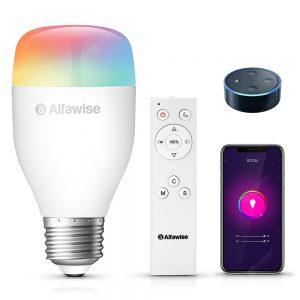 Alfawise LE12 E27 WiFi APP / Voice / Remote Control Smart LED Bulb
